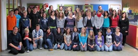 Gruppenfoto Teeniechor - Probenwochenende