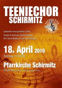 Konzert 2010 - Teeniechor Schirmitz